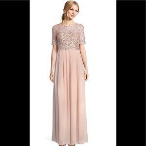 Adrianna papell short sleeve chiffon dress